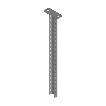Column with C Type Steel Rail
