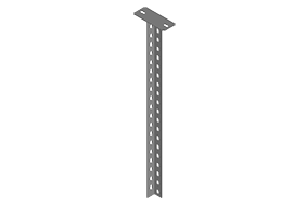 Column with L Type Steel Rail