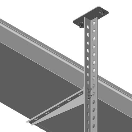 Column with L Type Steel Rail